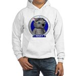 Binky's Blue Portrait Hooded Sweatshirt