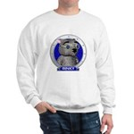 Binky's Blue Portrait Sweatshirt