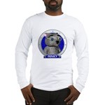 Binky's Blue Portrait Long Sleeve T-Shirt