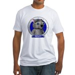 Binky's Blue Portrait Fitted T-Shirt