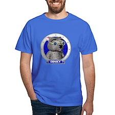 Binky's Blue Portrait T-Shirt Dark Colored