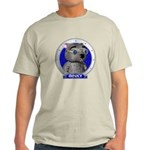 Binky's Blue Portrait Light Colored T-Shirt