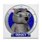 Binky's Blue Portrait Tile Coaster