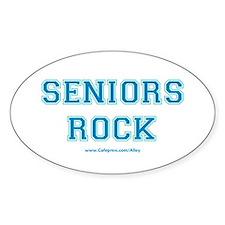 Seniors Rock Oval Decal