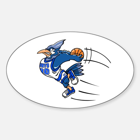 B is for blue jay Sticker (Oval)