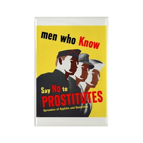 Say No to Prostitutes Rectangle Magnet (10 pack)