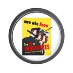Say No to Prostitutes Wall Clock