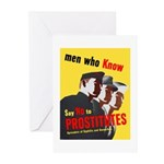 Say No to Prostitutes Greeting Cards (Pk of 10)