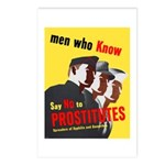 Say No to Prostitutes Postcards (Package of 8)