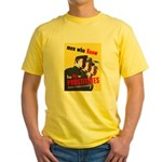 Say No to Prostitutes (Front) Yellow T-Shirt