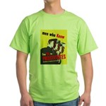 Say No to Prostitutes (Front) Green T-Shirt