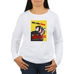 Say No to Prostitutes (Front) Women's Long Sleeve