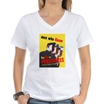 Say No to Prostitutes (Front) Women's V-Neck T-Shi