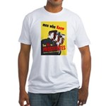 Say No to Prostitutes (Front) Fitted T-Shirt