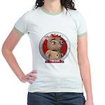 Twink's Red Portrait Jr. Ringer T-Shirt