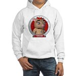 Twink's Red Portrait Hoodie Sweatshirt