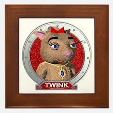 Twink's Red Portrait Framed Tile