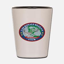 Uss Ronald Reagan Ships Logo Shot Glass
