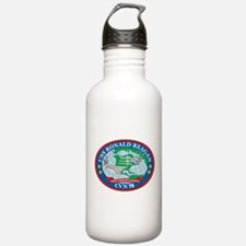 Uss Ronald Reagan Logo Water Bottle