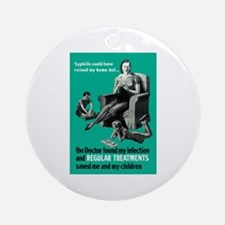 Stop Syphilis VD Ornament (Round)