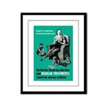 Stop Syphilis VD Framed Panel Print