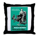 Stop Syphilis VD Throw Pillow