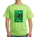 Stop Syphilis VD (Front) Green T-Shirt