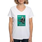 Stop Syphilis VD Women's V-Neck T-Shirt