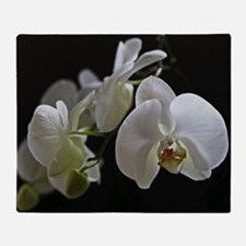 Funny Orchid Throw Blanket