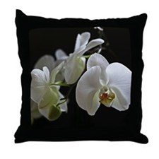 Unique Orchids Throw Pillow