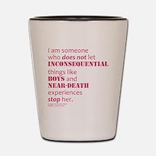 Boys and Near Death Shot Glass