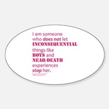 Boys and Near Death Sticker (Oval)