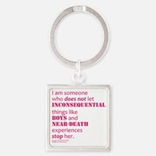 Boys and Near Death Square Keychain