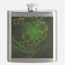 Heart And Shamrocks Flask