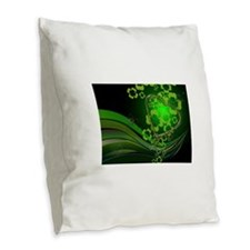 Heart And Shamrocks Burlap Throw Pillow
