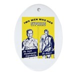 Stop Syphilis Venereal Disease Oval Ornament