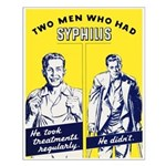 Stop Syphilis Venereal Disease Small Poster
