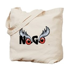 Northern Goshawk - Black Letters Tote Bag