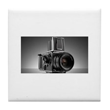 Vintage camera, hasselblad, nikon, Tile Coaster