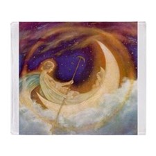 Moonboat to Dreamland Throw Blanket