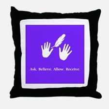 Ask Believe Allow Receive Gifts 2 Throw Pillow