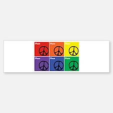 Multicolor iPeace Symbol Sticker (Bumper)