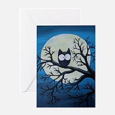 Cute Night owl Greeting Card