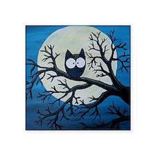 "Night Owl Square Sticker 3"" x 3"""
