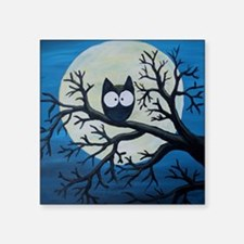 "Night Owl Square Sticker 3"" x 3"""
