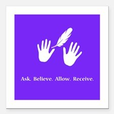 Ask Believe Allow Receive Gifts 2 Square Car Magne