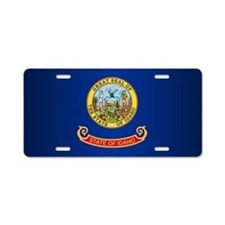 Idaho Flag Aluminum License Plate