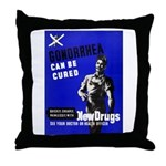 Stop Gonorrhea VD Throw Pillow