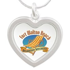 Fort Walton Beach - Silver Heart Necklace