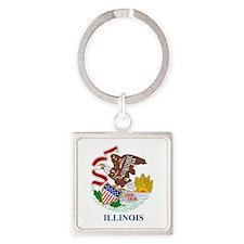 Illinois (F15) Square Keychain